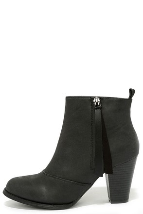 Something So Right Grey High Heel Booties at Lulus.com!