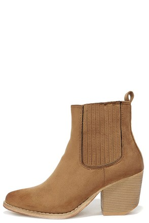 Wear It Well Cognac Pointed Ankle Boots at Lulus.com!