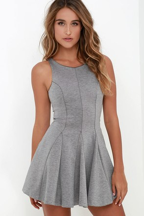 Sugar and Sass Heather Grey Dress at Lulus.com!