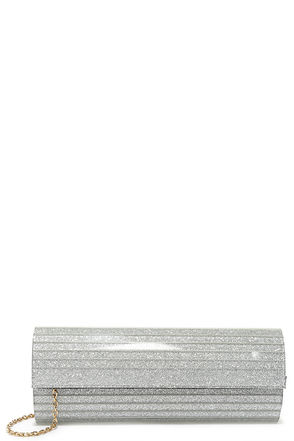 Sparkling Constellation Silver Glitter Lucite Clutch at Lulus.com!