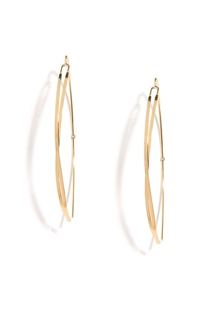 Criss-Crossbow Gold Threader Earrings at Lulus.com!