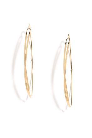Criss-Crossbow Gold Threader Earrings at Lulus.com!