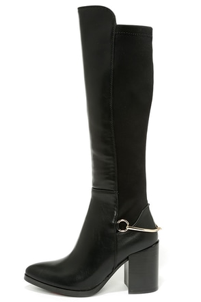 Luichiny Local Legend Black Knee High Heel Boots at Lulus.com!