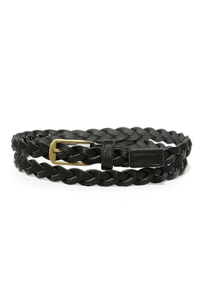 Ivy Weave Black Braided Belt at Lulus.com!