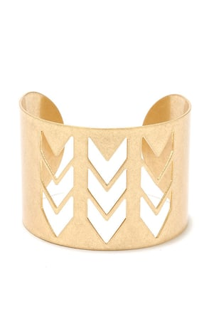 Thunderstroke Gold Bracelet at Lulus.com!