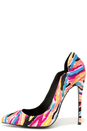 Lust for Life Kash Wild Multi Pony Fur Pumps at Lulus.com!