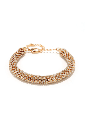 Memorable Moments Gold Rhinestone Bracelet at Lulus.com!