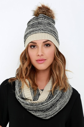 Cozy Coupling Black Scarf and Hat Set at Lulus.com!
