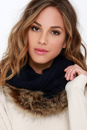 Fur Sure Taupe Faux Fur Infinity Scarf at Lulus.com!