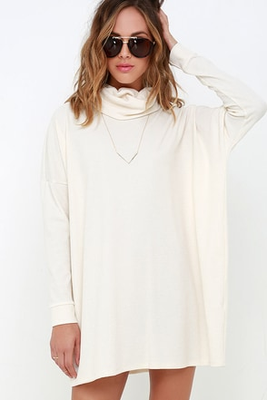 Scheme of Things Taupe Long Sleeve Dress at Lulus.com!