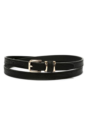 No Stranger to Style Black Belt at Lulus.com!