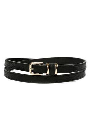 No Stranger to Style Black Belt at Lulus.com!