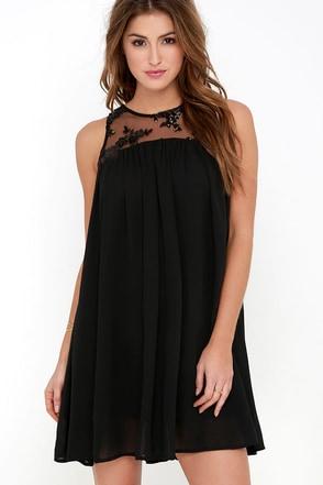 Stunning Debut Black Sequin Shift Dress at Lulus.com!