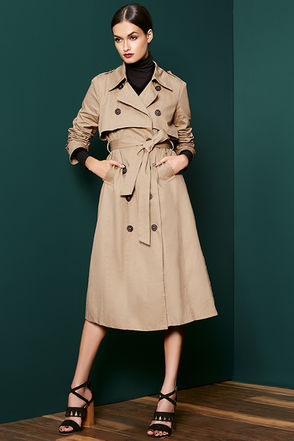 Weather or Not Tan Trench Coat at Lulus.com!