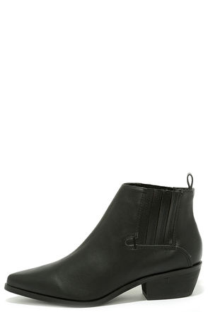 Alert and Aware Black Pointed Toe Booties at Lulus.com!