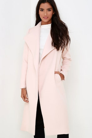 What Dreams Are Made Of Grey Coat at Lulus.com!