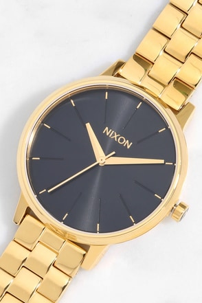 Nixon Kensington Gold and Black Sunray Watch 1
