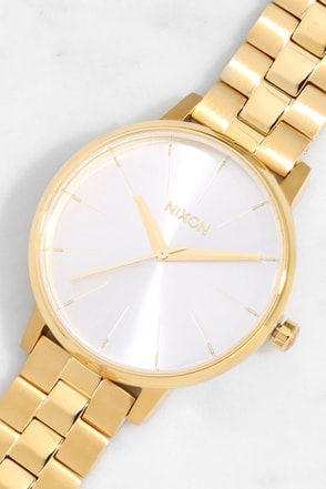 Nixon Kensington Silver, Rose Gold, and Taupe Watch at Lulus.com!