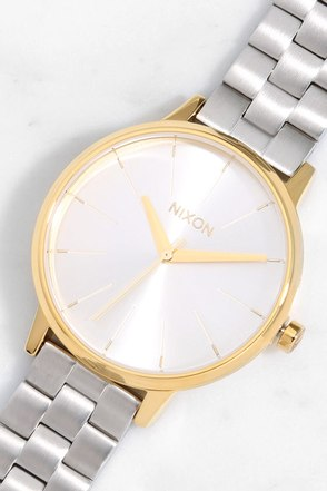 Nixon Kensington Gold and Silver Watch 1
