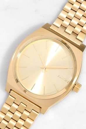 Nixon Time Teller Gold Watch at Lulus.com!