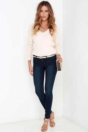 Consonance Dark Wash Skinny Jeans at Lulus.com!