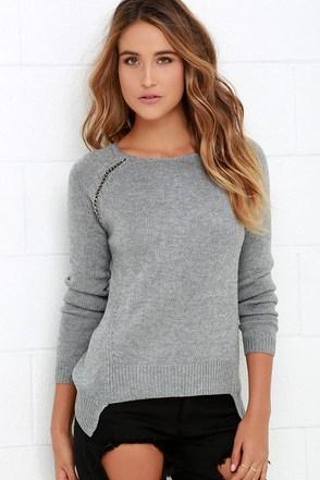 Black Swan Chloe Grey Sweater at Lulus.com!