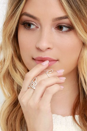 Perpetual Twinkle Gold Rhinestone Ring at Lulus.com!