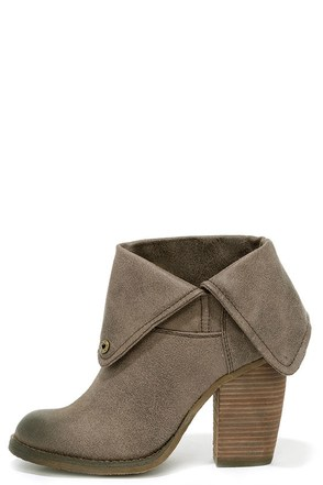 Sbicca Chord Taupe Fold-Over Boots at Lulus.com!