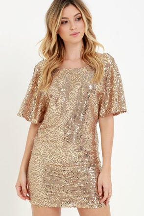 Throne-Worthy Pewter Sequin Shift Dress at Lulus.com!