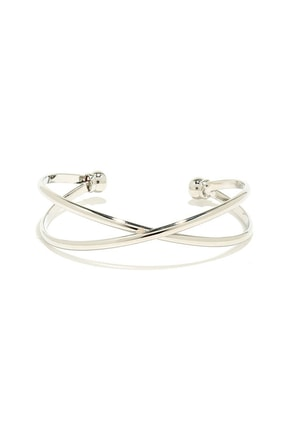 Cross X-amined Silver Bracelet at Lulus.com!