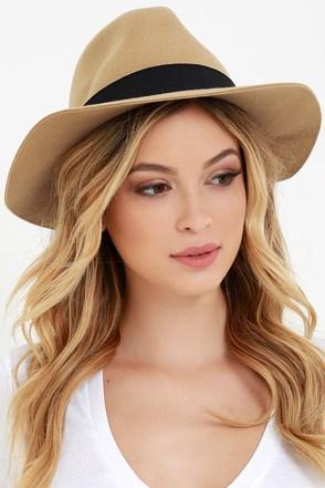 Obey Sienna Beige Fedora Hat at Lulus.com!