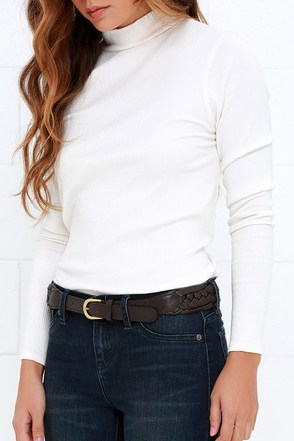 Braid Up My Mind Olive Green Braided Belt at Lulus.com!