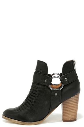 Seychelles Impossible Black Leather Ankle Booties at Lulus.com!