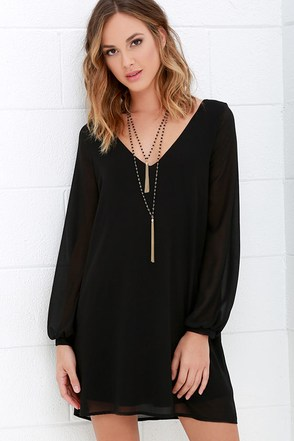 Give Me a Shift Ivory Long Sleeve Dress at Lulus.com!