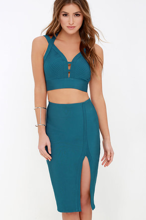 Make it Strappy Black Two-Piece Dress at Lulus.com!