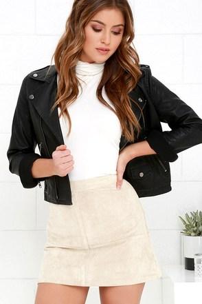 Shenandoah Beige Suede Mini Skirt at Lulus.com!