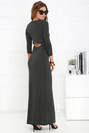 Obey Sierra Dark Grey Maxi Dress at Lulus.com!