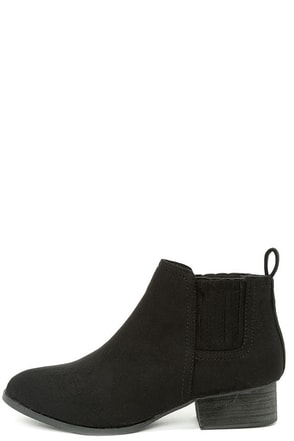 Right on Time Black Suede Ankle Boots at Lulus.com!