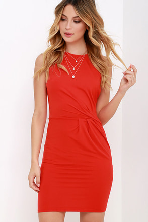 Simple Twist Black Dress at Lulus.com!