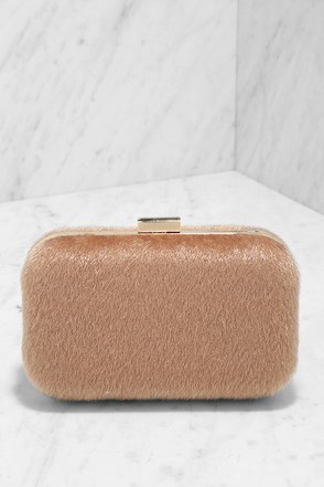 Pony Show Beige Faux Fur Clutch at Lulus.com!
