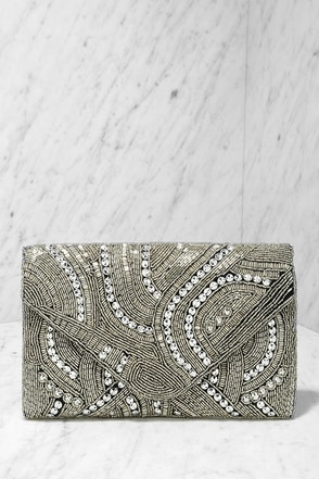 Destined for the Arena Gold Beaded Clutch at Lulus.com!