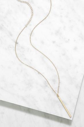 LULUS Exclusive Monolith Gold Pendant Necklace 1