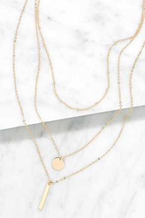 Perfect Trio Gold Layered Necklace at Lulus.com!