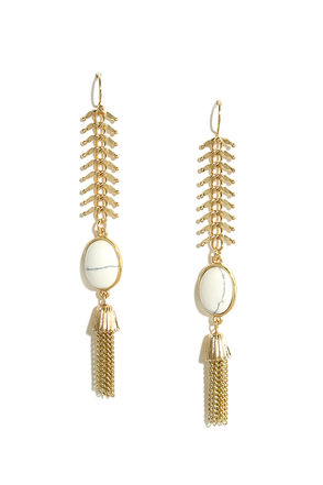 Gracious Gift Gold and Ivory Earrings at Lulus.com!