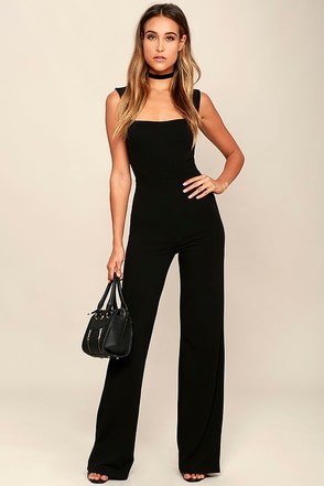 Enticing Endeavors Black Jumpsuit at Lulus.com!