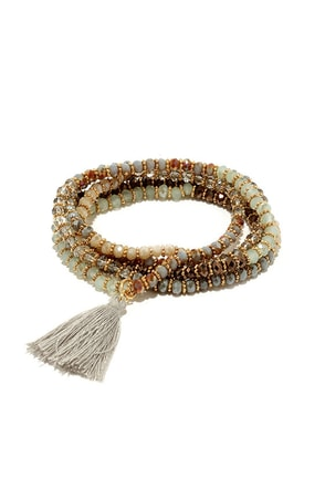 Full Influence Grey Wrap Bracelet at Lulus.com!