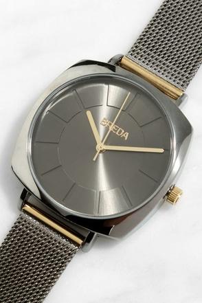 Breda Vix Gunmetal Watch at Lulus.com!