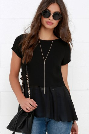 Flow-Ever and Ever Black Short Sleeve Top at Lulus.com!