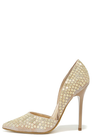 Steve Madden Varcityr Gold Multi D'Orsay Pumps at Lulus.com!
