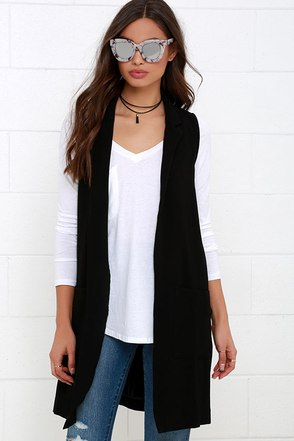 Glamorous Idyll Black Vest at Lulus.com!